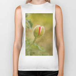 Bud of a large poppy Biker Tank