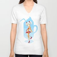 strawberry V-neck T-shirts featuring Strawberry by Freeminds