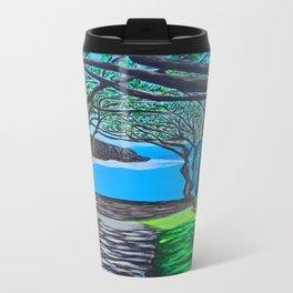 Maui black sand beach Metal Travel Mug