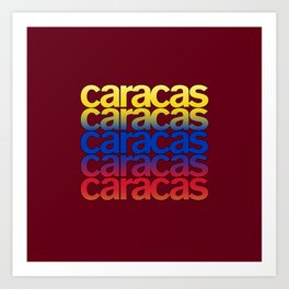 Caracas Vibe Art Print