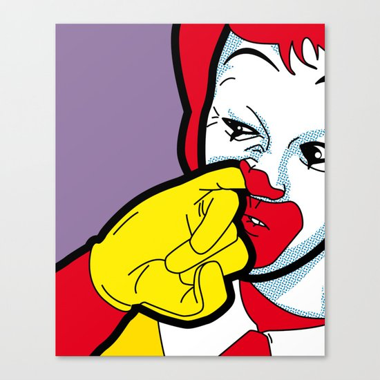 The secret life of heroes - Fast Food Canvas Print