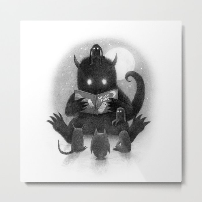 Story Time (black and white option) Metal Print