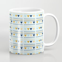 Triangle Party Bunting Garland Seamless Vector Pattern Coffee Mug