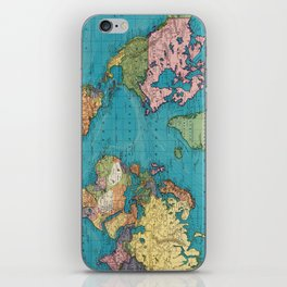 Vintage Map of The World (1897) iPhone Skin