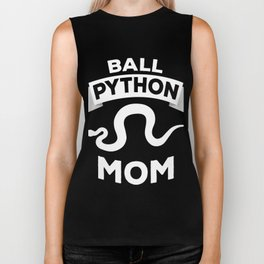 Ball Python Mom | Snake Reptile Owner Woman Biker Tank