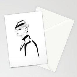 fashion sketch Stationery Cards