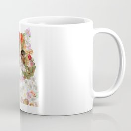 Portrait of a Persian cat, illustrated by hand painted flowers.DISCOVER Coffee Mug