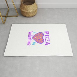 Pizza Is My Valentine1 Rug