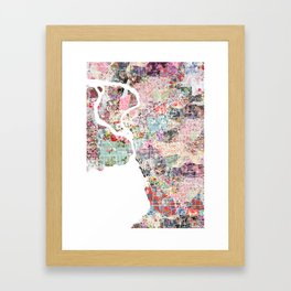 Buffalo map Framed Art Print