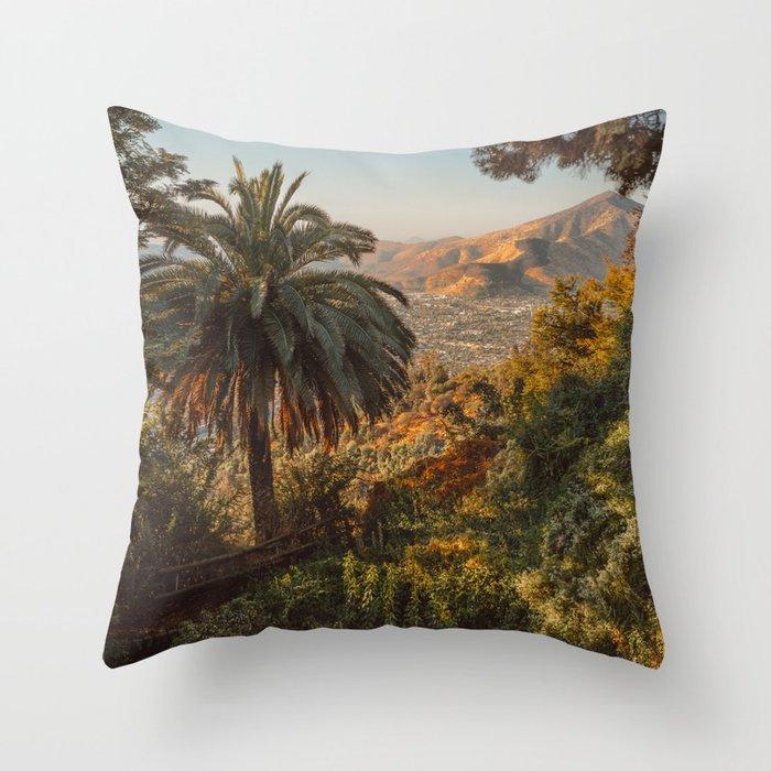 Santiago Chile from San Cristóbal Hill Throw Pillow