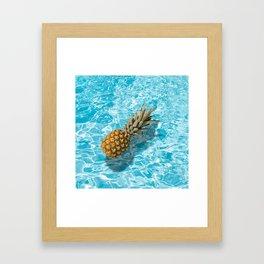 PINEAPPLE & POOL Framed Art Print