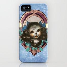 Kitschy Blue Puppy iPhone Case
