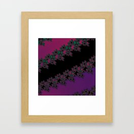 Fractal Layered Lace  Framed Art Print