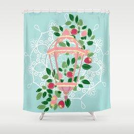 Pink Lantern Shower Curtain