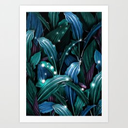 Tropical Magic Forest Art Print