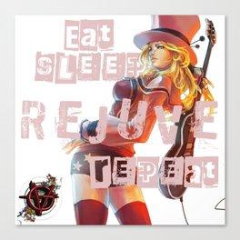 Vagenda - Eat Sleep Rejuve Repeat v1 Canvas Print
