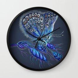 Love Lorn Butterfly-Blue & Navy Palette Wall Clock