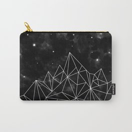 geometric mountain black & white Carry-All Pouch