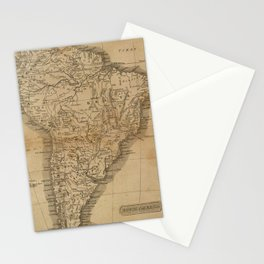 Vintage Map of South America (1825) Stationery Cards