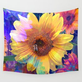 Summer's Sweetest Sunflowers Wall Tapestry
