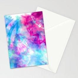 Cool Artsy Girly Purple Pink Blue Tie Dye Pattern Stationery Cards