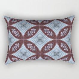 American Folk Red & Blue No. 09 Rectangular Pillow