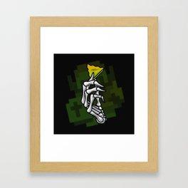 HYRULE VALUES TRIFORCE PART Framed Art Print