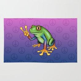 Peace Frog Rug
