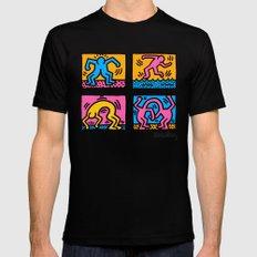 Keith Haring Pop Shop Quad Black MEDIUM Mens Fitted Tee