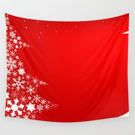 Red Christmas Wall Tapestry