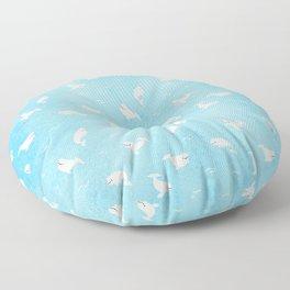 Beluga Whales Floor Pillow