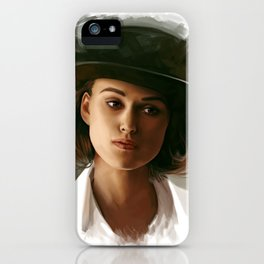 Keira Knightley in hat iPhone Case
