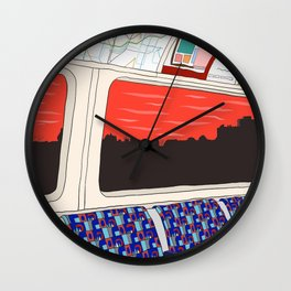 View from London Train Line Wall Clock