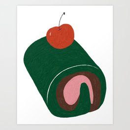 Cherries and Matcha Art Print
