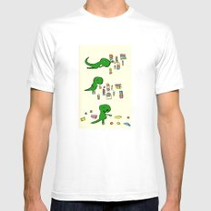 Tim the T Rex Mens Fitted Tee White MEDIUM