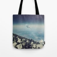 astronaut Tote Bags featuring Astronaut by MiraRuido