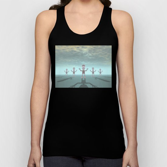 Characters Made of Stone Unisex Tank Top