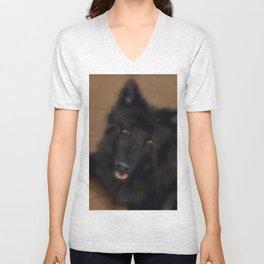 A dog named Bamse Unisex V-Neck