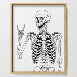 Rock and Roll Skeleton Serving Tray