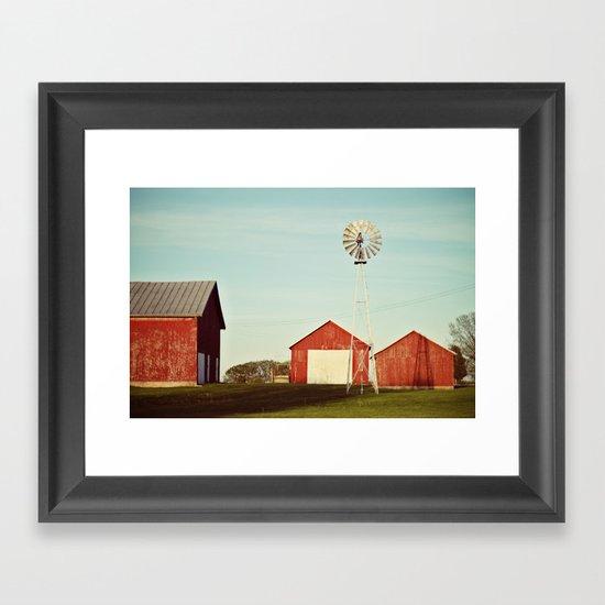 the red barn Framed Art Print