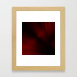 Black and Red Spray Paint Framed Art Print