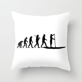 Stand Up Paddling Evolution Throw Pillow