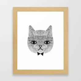 The sweetest cat Framed Art Print