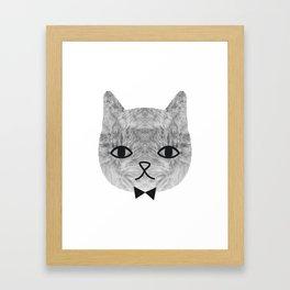 The sweetest cat Framed Art Print
