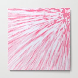 Rose pink Pixel Wind Metal Print