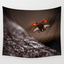 Ladybird in flight Wall Tapestry