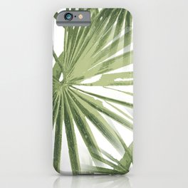 Tropical Beach Palm Vector iPhone Case