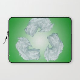 recycling eco symbol Laptop Sleeve