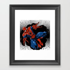 Spidey Color Framed Art Print
