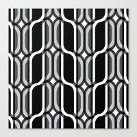 bauhaus Canvas Prints featuring Bauhaus Type Black and White Art by Addison Barker